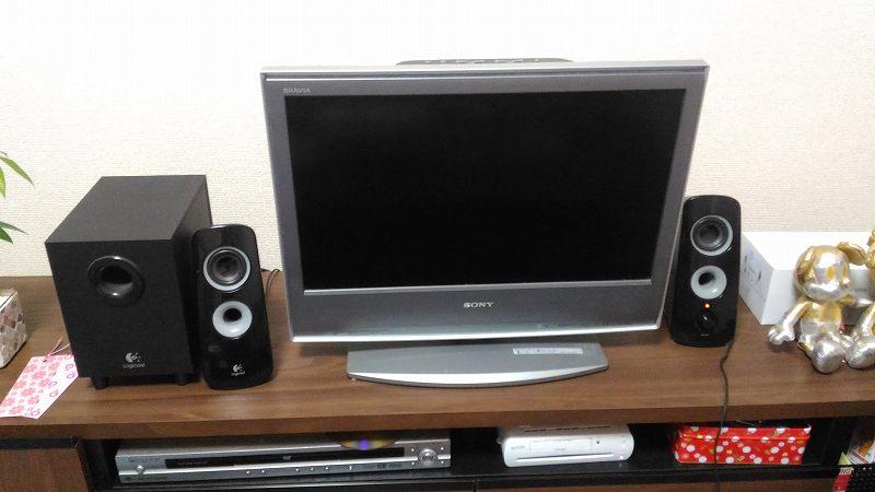 液晶テレビとスピーカー
