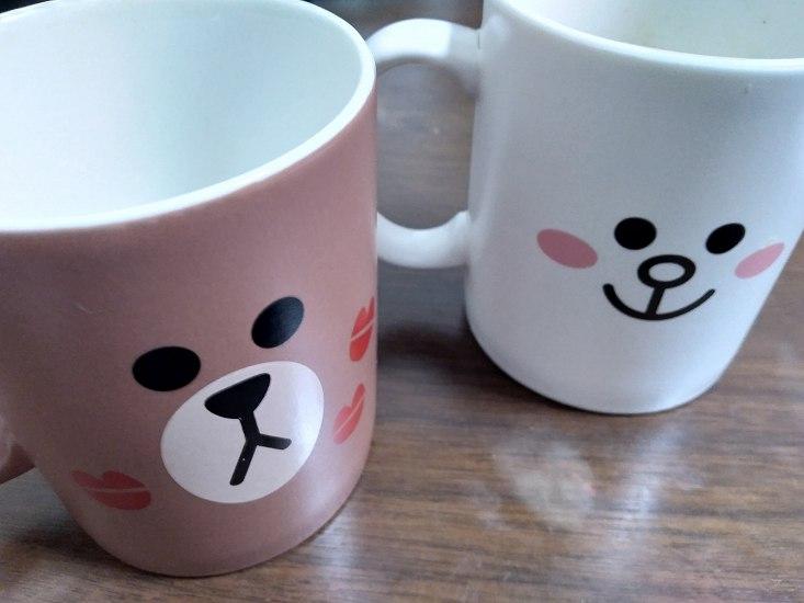 LINEのキャラのマグカップ