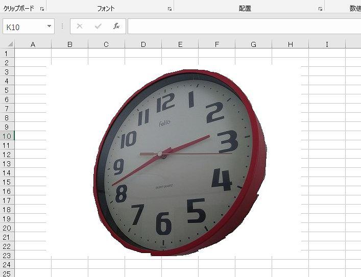シート状に時計画像