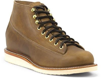 ラバーソールのブーツ(茶色)