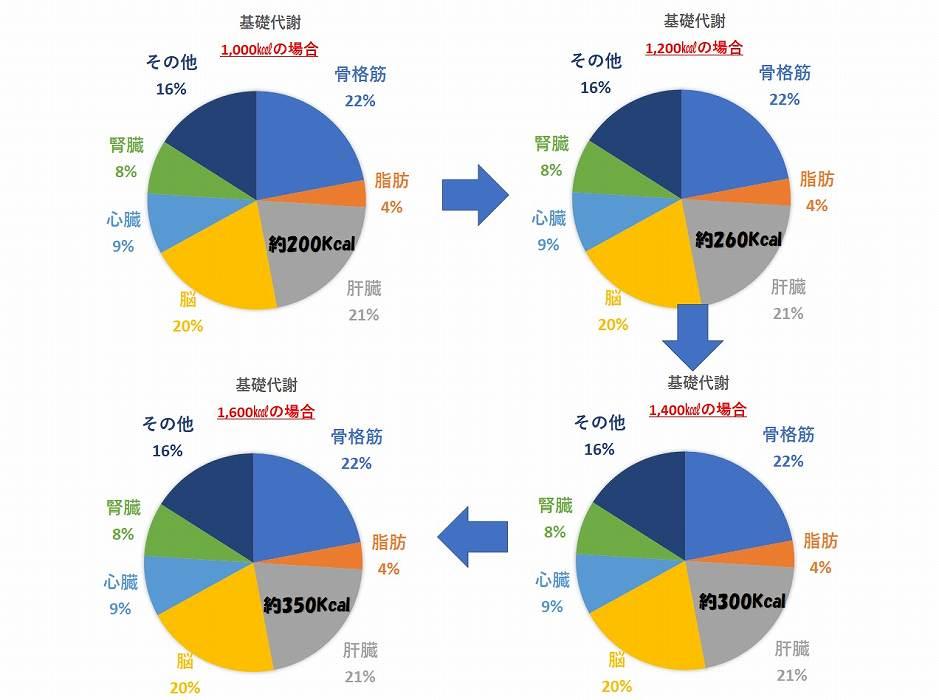 4つの円グラフ