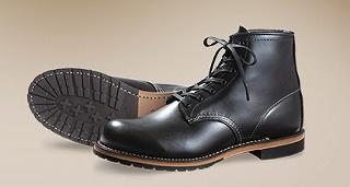レッドウィングの革靴(黒)