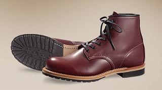 レッドウィングの革靴(ワイン色)