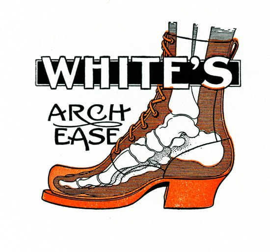 ブーツの中の足の骨