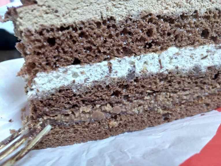 チョコレートケーキの断層