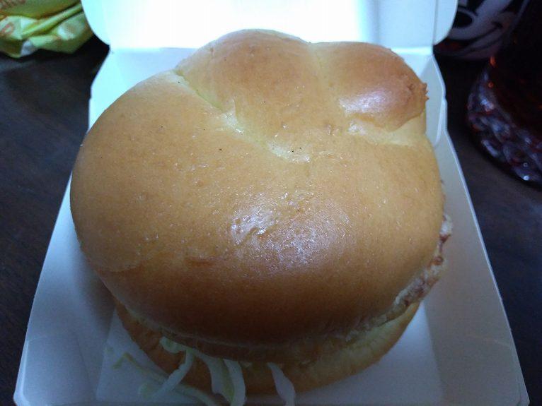 上から見たハンバーガー