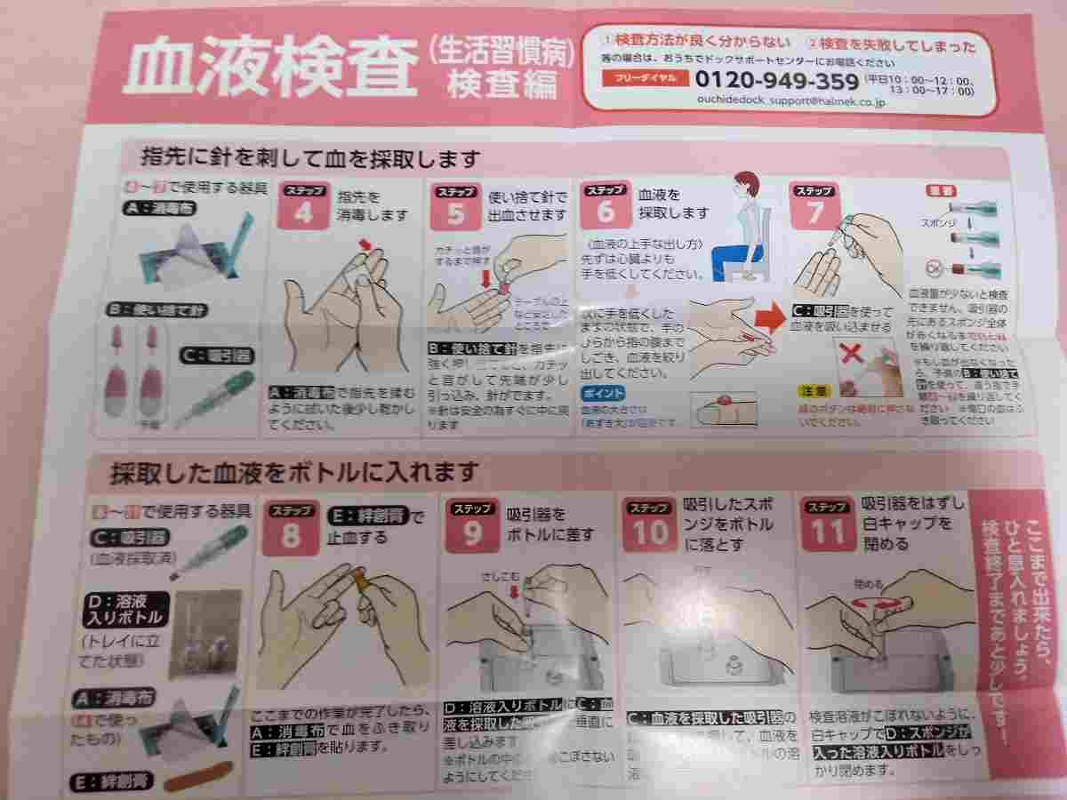 郵送血液検査の流れ3