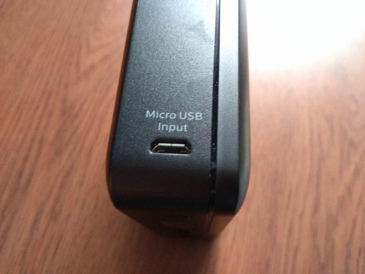 microUSB挿入口