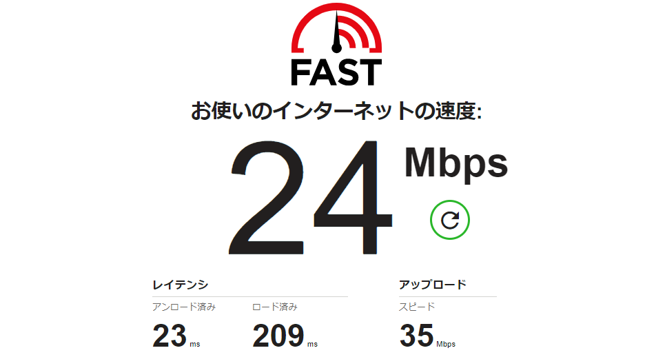 インターネット速度の測定