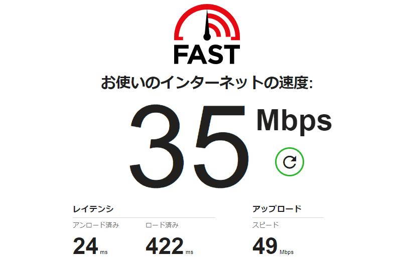 インターネットの速度計測