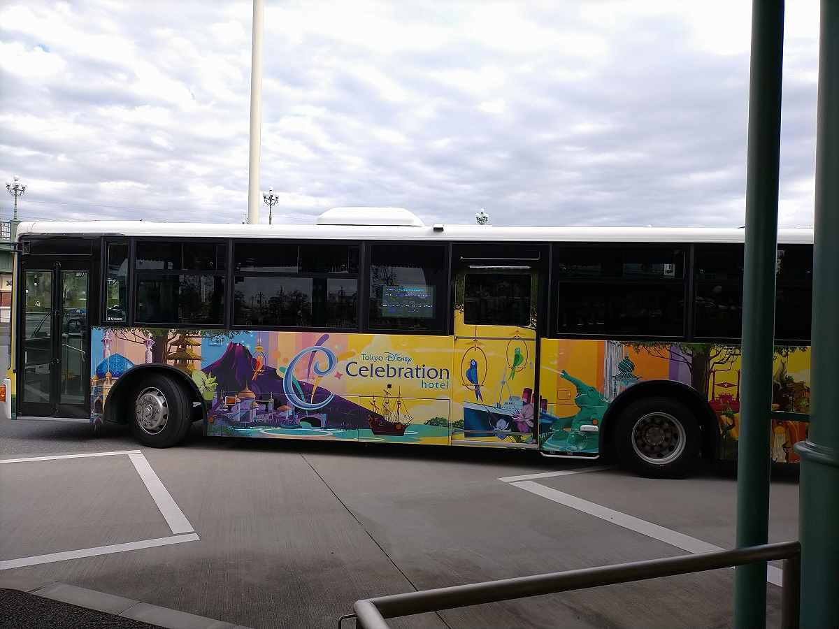 ディズニーセレブレーションホテルのバス
