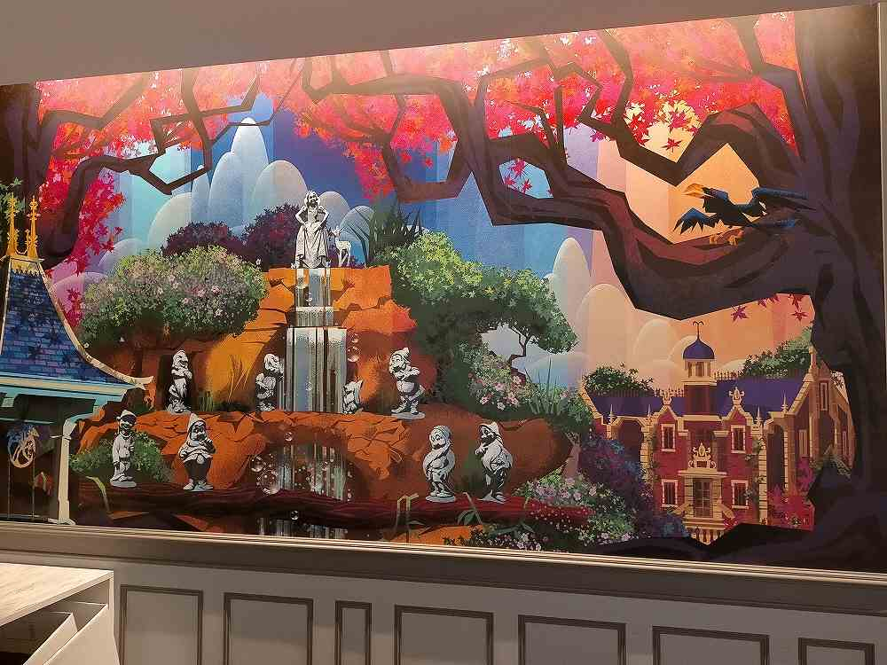 セレブレーションホテルフロントにある大きな絵