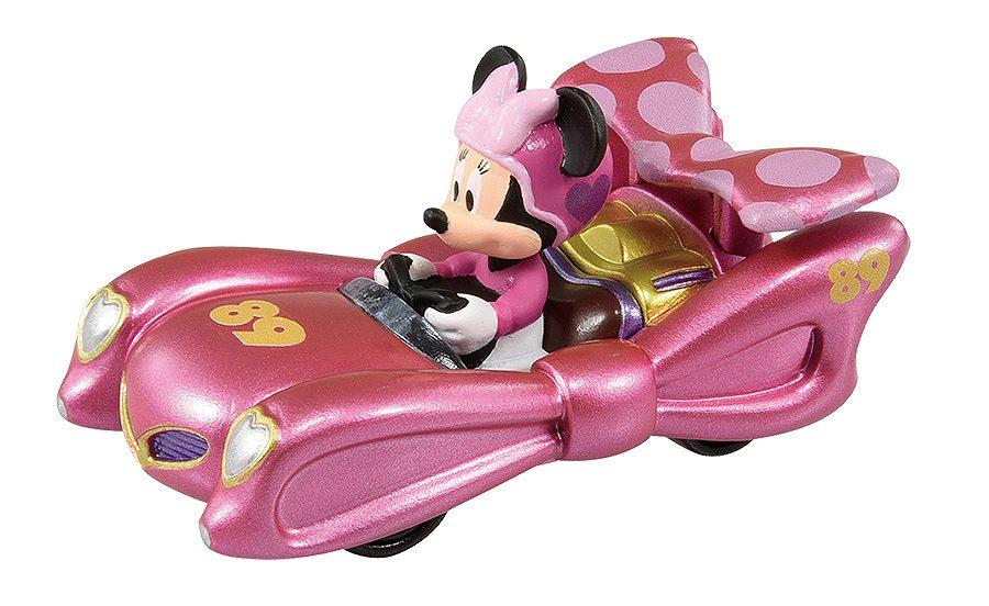 ミニーが乗っているピンクのレースカー